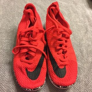 Womens Red Nike Running Shoes 6 Hypervenom Sneaker
